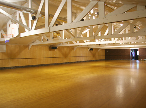 Skating floor at Morton Rolller Rink