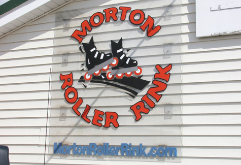 Morton Roller Rink Sign